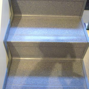 Treppe Kunststoffbelag