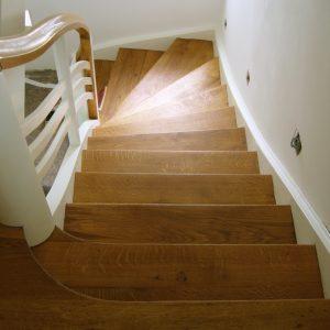 Treppenrenovierung geölt