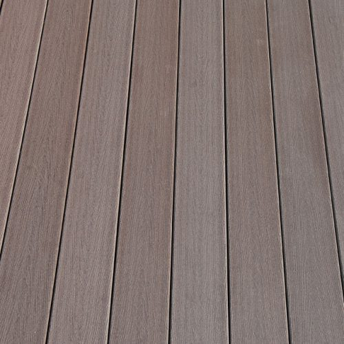 WPC massiv Diele Holzstruktur dunkelbraun