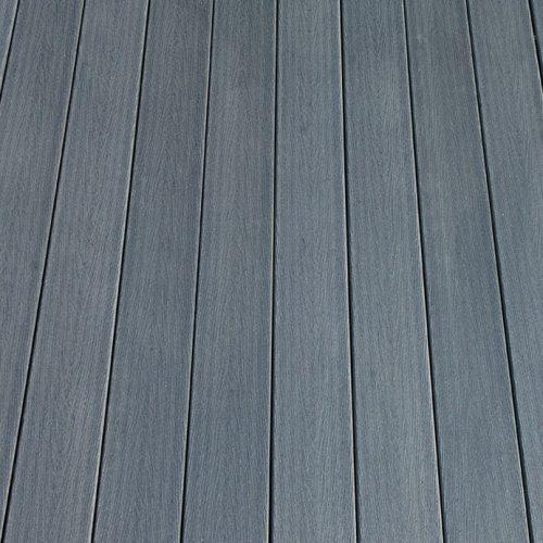 WPC massiv Diele Holzstruktur grau